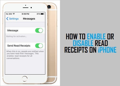 How to disable read receipts on iPhone